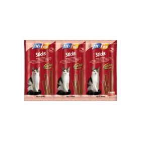 FIT+FUN poslastica za mačke štapići losos i pastrva 50 g