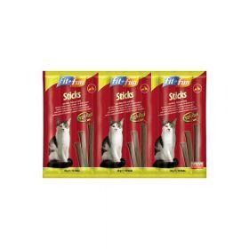 FIT+FUN poslastica za mačke štapići zec, perad i kvasac 50 g