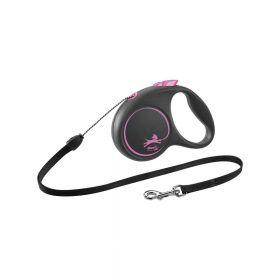 Flexi Black Design M uže 5 m roza