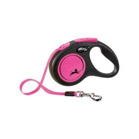 Flexi New Neon M traka 5 m neon roza