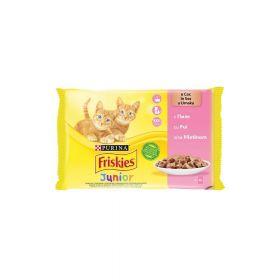 Friskies Cat Multipack Junior piletina u umaku 4x85g