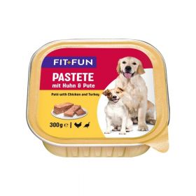 FIT+FUN Pate Adult puretina, piletina 300 g ALU-pak