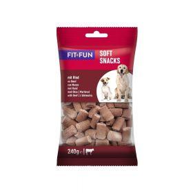FIT+FUN poslastice za pse Soft Snacks govedina 240 g