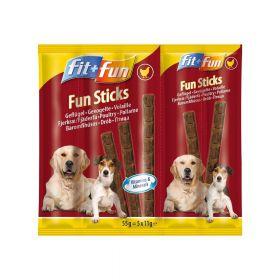 FIT+FUN poslastica za pse štapići perad 55 g