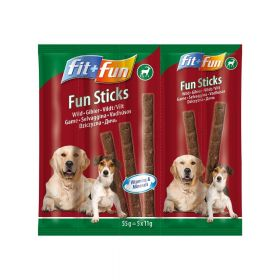 FIT+FUN poslastica za pse štapići divljač 55 g