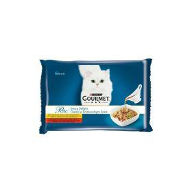 Gourmet Perle Gravy Delight Multipack piletina/govedina 4x85g
