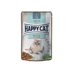 Happy Cat Sensitive meso u umaku za kožu i krzno 85 g vrećica