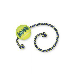 Kong igračka za pse Air Squeaker Tennis Ball s užetom Medium