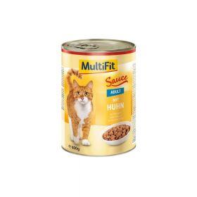 MultiFit Cat Adult zec i patka u umaku 400 g konzerva