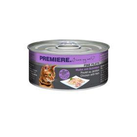 Premiere Cat Filets piletina i šunka 80 g konzerva
