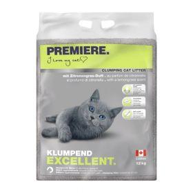 Premiere Excellent pijesak za mačke limunska trava,12 kg