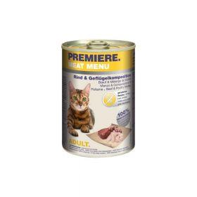 Premiere Cat Meat Menu Adult govedina i perad 400 g konzerva