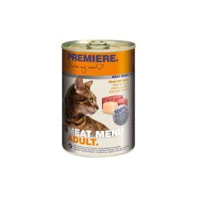 Premiere Cat Meat Menu Adult govedina i piletina 400 g konzerva