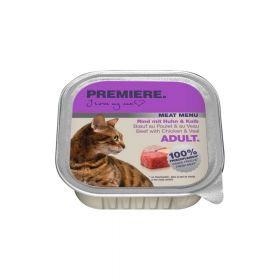 Premiere Cat Meat menu Adult govedina, piletina i teletina 100 g ALU-pak