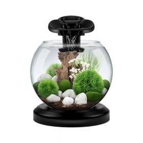 Tetra akvarij Duo Waterf Globe LED crni 6,8 l