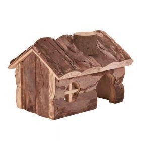 Trixie drvena kućica za glodavce Hendrik za hrčka 15x11x12 cm