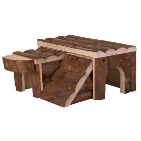 Trixie drvena kućica za glodavce Luka za hrčka 14x7x14 cm