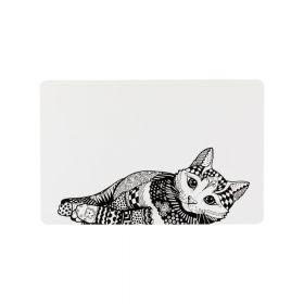 Trixie podloga za posude za mačke crno-bijela, 44x28 cm