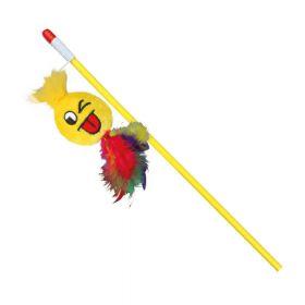 Trixie igračka za mačke Štap sa smileyom 50 cm