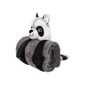 Trixie deka s igračkom set pliš 75x50 cm, tamno siva