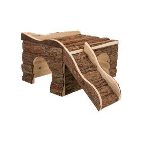 Trixie drvena kućica za glodavce Ineke 38x25x50 cm