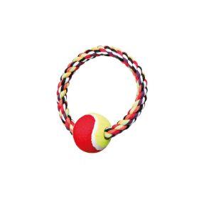 Trixie igračka za pse prsten s tenis lopticom fi-18 cm