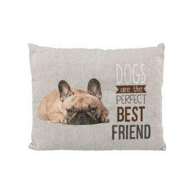Trixie jastuk za pse Chipo French Bulldog 60x48 cm sivi