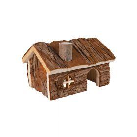 Trixie drvena kućica za glodavce Hendrik 20x13x13 cm