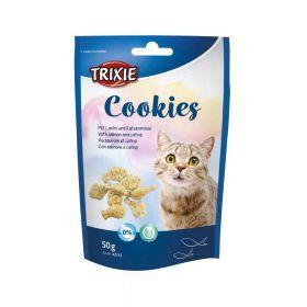 Trixie poslastica za mačke Cookies losos i catnip 50 g