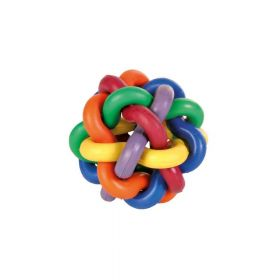 Trixie igračka za pse Pletena šarena lopta 10 cm