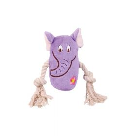 Trixie igračka za pse pliš u obliku životinja s konopom mix 13 cm