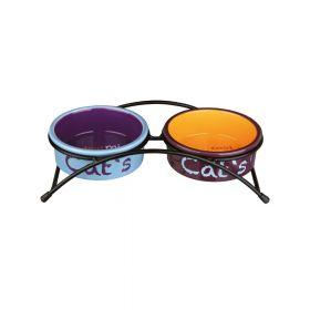 Trixie posuda na postolju za mačke Eat on feet set 0,3 l/fi-12 cm