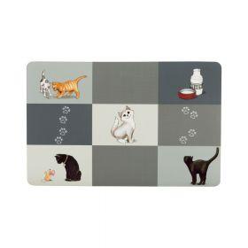 Trixie podložak za posude za mačke sivi, 44 x 28 cm