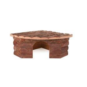 Trixie drvena kućica za glodavce Jesper za kuniće 42x15x30 cm