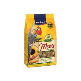 Vitakraft hrana Menu Vital za srednje papige s medom 1 kg
