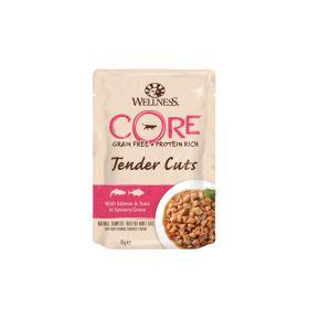 Wellness Core Tender Cuts s lososom i tunom u umaku, vrećica 85g