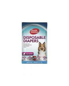 Simple Solution pelene za pse Disposable Diapers, gaćice M