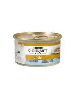 Gourmet Gold riba&špinat 85 g