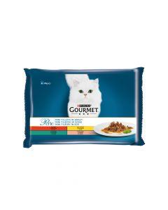 Gourmet Perle multipack govedina, piletina, zec, losos 4x85 g