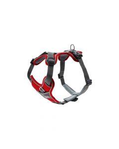 Hunter oprsnica za pse Divo S-M crvena/siva