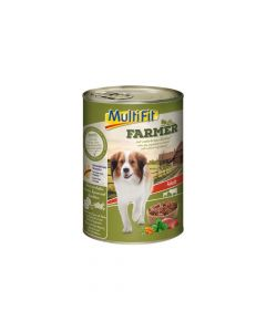 MultiFit Farmer Adult govedina i teleća srca 400 g konzerva