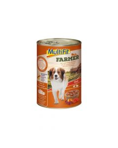 MultiFit Farmer Adult piletina i pačja srca 400 g konzerva