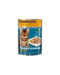 Premiere Cat Tender Stripes piletina 85 g vrećica