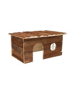 Trixie drvena kućica za glodavce Jerrik za glodavce 50x25x33 cm