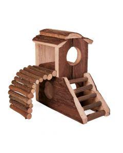 Trixie drvena kućica za glodavce Mats s ljestvama