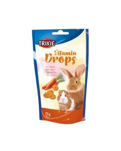 Trixie poslastica za glodavce Drops mrkva 75 g