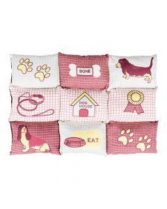 Trixie jastuk za pse Patchwork 80x55 cm crveno/bež