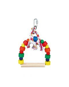 Trixie ptica igračka ljuljačka drvena šarena 13x19 cm
