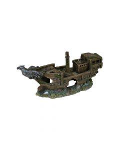 Trixie ukras za akvarij olupina broda 32 cm