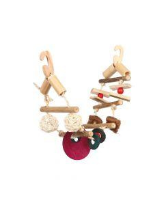 Trixie igračka za ptice viseća, most prirodno drvo
